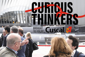 Curious Thinkers event location shot in Sydney with logo